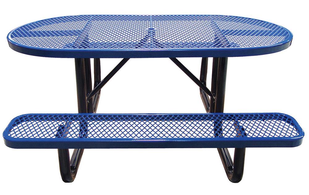 6u0027 Oval Portable Picnic Table