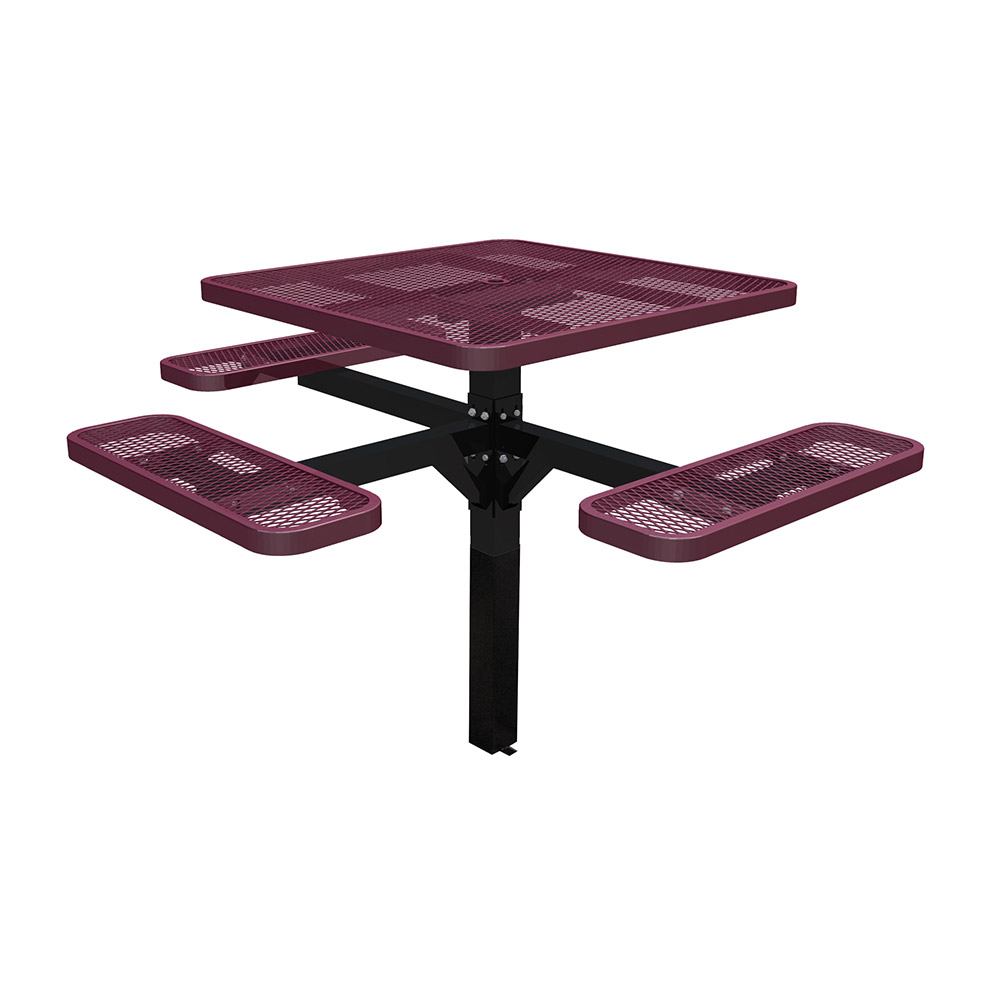 Square Single Post Ada Table Seats ADA Picnic Tables With - Ada picnic table requirements