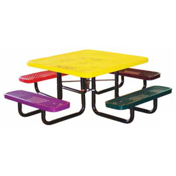 Square In Ground Child Size Metal Picnic Tables Metro Depot LLC - Square metal picnic table