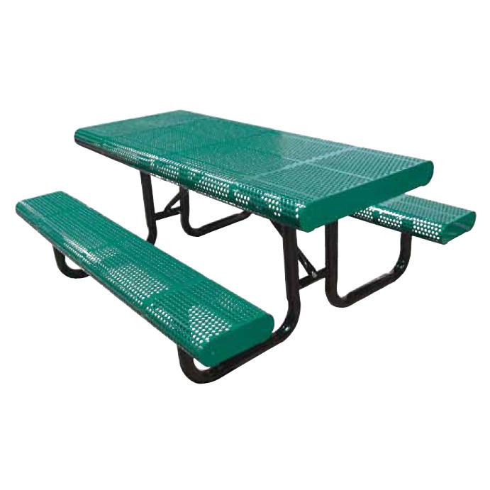 10u0027 Radial Edge Perf Portable Picnic Table